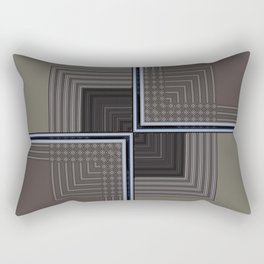 Biege Modern Block Design Rectangular Pillow