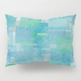 Turquoise Squares Pillow Sham