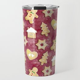 Gingerbread Christmas Cookies Travel Mug