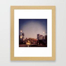 Cable Car, Powell Framed Art Print