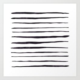 Black Ink Linear Experiment Art Print