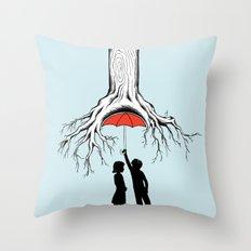 Raining Roots Throw Pillow