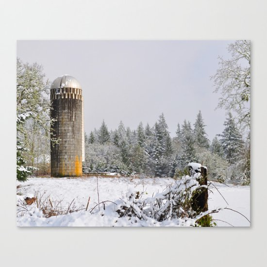 Remnants of a Simpler Time - The Silo Canvas Print