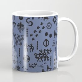 Peoples Story - Black on Blue Coffee Mug