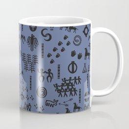 Peoples Story - Black on Blue Coffee Mug