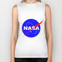 nasa Biker Tanks featuring Nasa logo by anto harjo