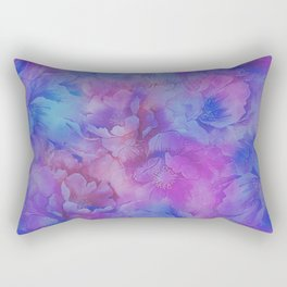 Painted Anemone Flowers 3 Rectangular Pillow