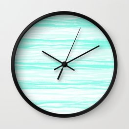 390 2 Crinkled Turquoise Wall Clock