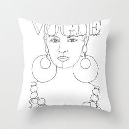 Vogue cover 1966 Throw Pillow