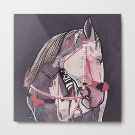 White Horse called Melancholia Metal Print