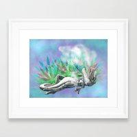 trex Framed Art Prints featuring weed trex by raulovsky (Raúl Ramos Melo)