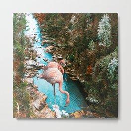 Flamingo Forest #society6 #decor #buyart Metal Print