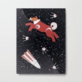 Laika - Space dog Metal Print