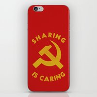 marx iPhone & iPod Skins featuring Sharing Is Caring by Landon Sheely