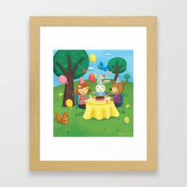 Birthday Party With Friends Framed Art Print