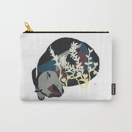 cat dreaming in meadow Carry-All Pouch