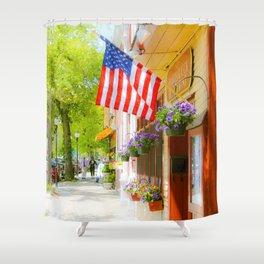 Quarter Deck Restaurant, Falmouth, Cape Cod Massachusetts Shower Curtain