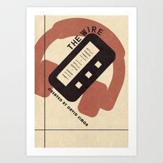 The Wire Vintage Bauhaus Poster Art Print