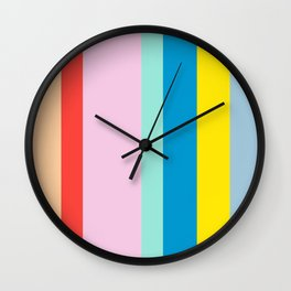 the color of summer stripes Wall Clock
