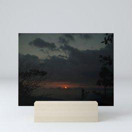 Sunset over San Pancho, Mexico Mini Art Print