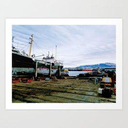 Reykjavik Harbor Art Print