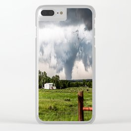 Siren - Large Tornado In Texas Panhandle Clear iPhone Case