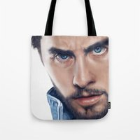 jared leto Tote Bags featuring Jared Leto by mari_art89
