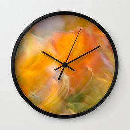 Sweeping Orange Strokes Wall Clock