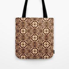 Leopard Kaleidoscope Wild Animal Print Tote Bag
