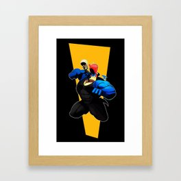 Dragon Pompadour! Framed Art Print