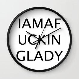 IAMAFUCKINGLADY Wall Clock