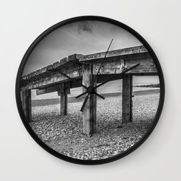 Isolated Pier Wall Clock