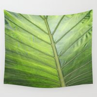 palm Wall Tapestries featuring Palm by ALLY COXON