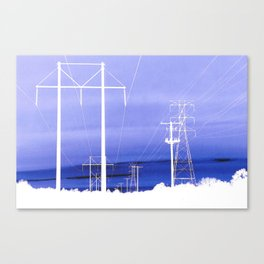 Electric blues Canvas Print