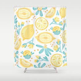 Lemons, Lemons Everywhere Shower Curtain