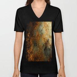 Rust Texture 69 Unisex V-Neck
