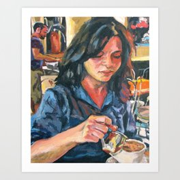 Cafe Angelique Art Print