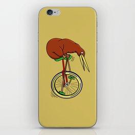 Kiwi Riding A Unicycle iPhone Skin