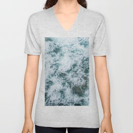Waves in Abstract Unisex V-Neck