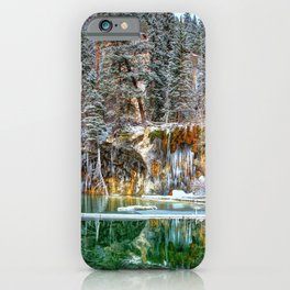 A Serene Chill Hanging Lake Winter iPhone Case