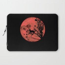 Cat At Full Moon Blood Moon Laptop Sleeve