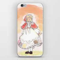 hetalia iPhone & iPod Skins featuring Red Riding Bel by Pixellated Ponderings