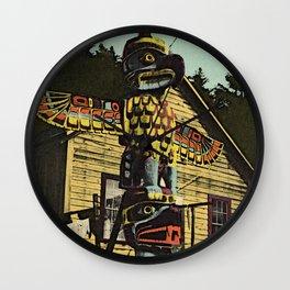 An Alaskan Totem Pole Wall Clock