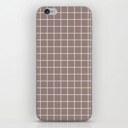 Cinereous - violet color - White Lines Grid Pattern iPhone Skin