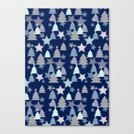 Christmas Landscape blue Canvas Print
