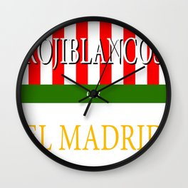 ROJIBLANCOS or EL MADRID Wall Clock