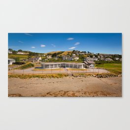 Seafront Cafe Canvas Print