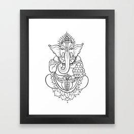 Ganesha. Hand drawn illustration Framed Art Print