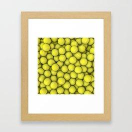 Tennis balls Framed Art Print
