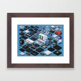 A Pixel Retrospective Framed Art Print